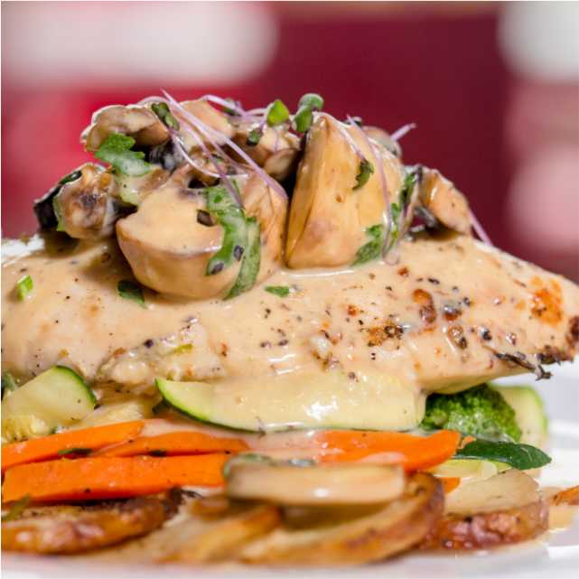 Chicken Al Funghi - The Boatdeck