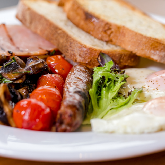 Mushroom, Sausage, Egg and Toast- The Boatdeck